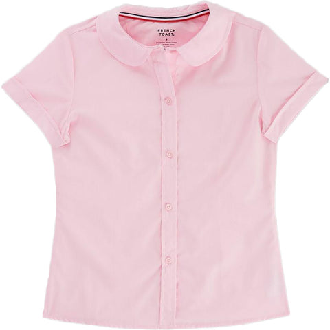 French Toast Toddlers/Girls Peter Pan Collar Blouse Pink