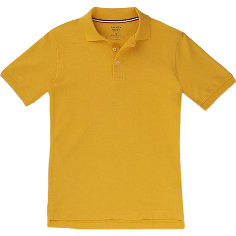 French Toast Toddlers Short Sleeve Pique Polo Sizes 2T - 4T Gold