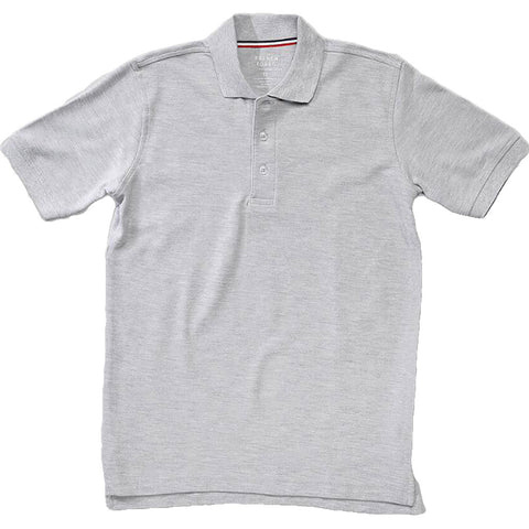 French Toast Toddlers Short Sleeve Pique Polo Sizes 2T - 4T Gray