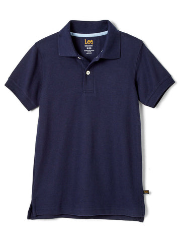 Lee Uniform Short Sleeve Kids Pique Polo - Navy<br>Sizes XS - XXL