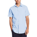 Mens Lee Button Down Broadcloth Dress Shirt Blue