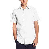 Mens Lee Button Down Broadcloth Dress Shirt White