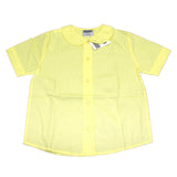 Genuine Girls Peter Pan Collar Short Sleeve Blouse Yellow