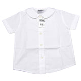 Genuine Girls Peter Pan Collar Short Sleeve Blouse White