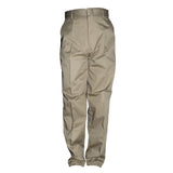 Classic Mens Flat Front Dress Pants Khaki