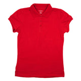 Classic Girls Junior Short Sleeve Polo Shirt Red