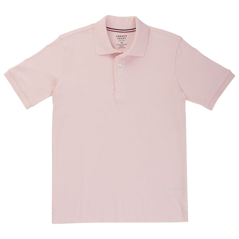 French Toast Short Sleeve Pique Polo - Pink Sizes 4 - 20