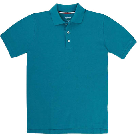 French Toast Short Sleeve Pique Polo - Teal<br>Sizes 4 - 20