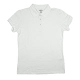 Classic Girls Junior Short Sleeve Polo Shirt White