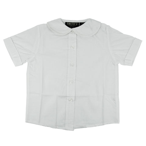Smith's American Toddlers Peter Pan Collar Poplin Blouse White
