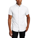 Mens Lee Button Down Short Sleeve Oxford Shirt White