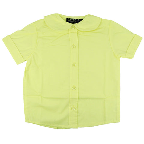 Smith's American Toddlers Peter Pan Collar Poplin Blouse Yellow