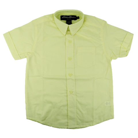 Eddie Bauer Short Sleeve Broadcloth Shirt Yellow