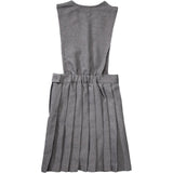 French Toast Girls V-Neck Pleated Jumper Gray Back
