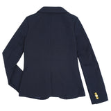 Long Sleeve Navy Blazer School Uniform for Girls Slim Fit Waist Back