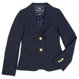 Long Sleeve Navy Blazer School Uniform for Girls Slim Fit Waist Front