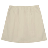 French Toast Pleated Skort with Grosgrain Ribbon Khaki