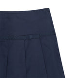 French Toast Pleated Skort with Grosgrain Ribbon Navy