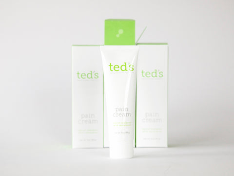 the Ted's Pain Cream 3-pack consists of three 3oz/85g tubes of Ted's Pain Cream