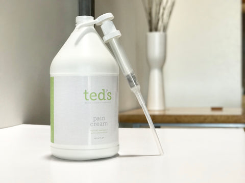 Ted's Pain Cream - 1 Gallon Pump