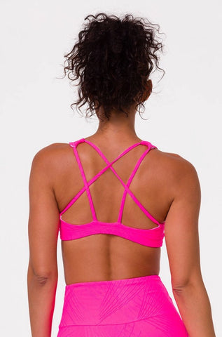 Hot pink Onzie sports bra