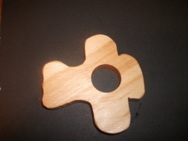 Airplane Teether - Organic,Hard Maple 100% Safe and Natural For Your Baby