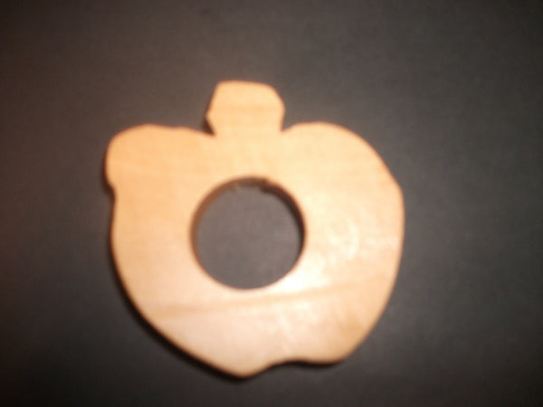 Apple Teether - Organic,Hard Maple 100% Safe and Natural For Your Baby