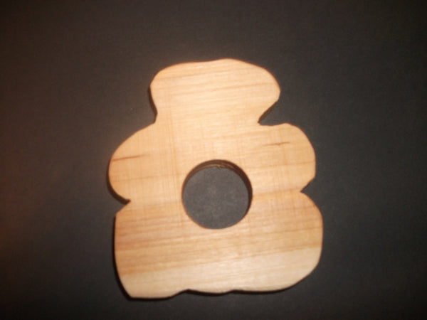 Bear Teether - Organic,Hard Maple 100% Safe and Natural For Your Baby