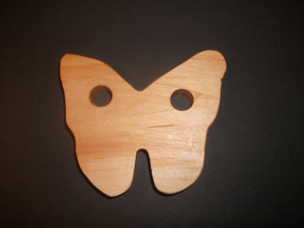 Butterfly Teether - Organic,Hard Maple 100% Safe and Natural For Your Baby