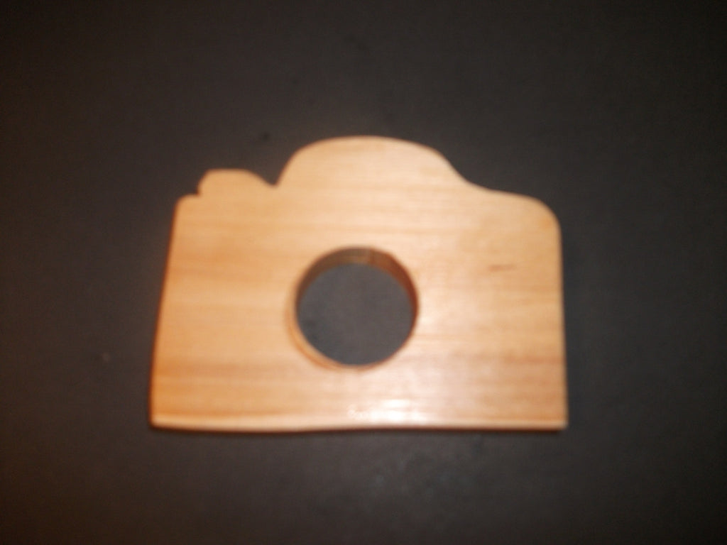 Camera Teether - Organic,Hard Maple 100% Safe and Natural For Your Baby