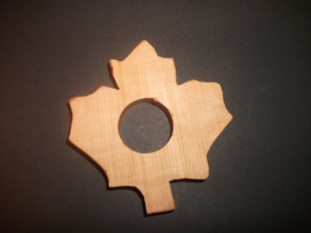 Canadian Maple Leaf Teether - Organic,Hard Maple 100% Safe and Natural For Your Baby