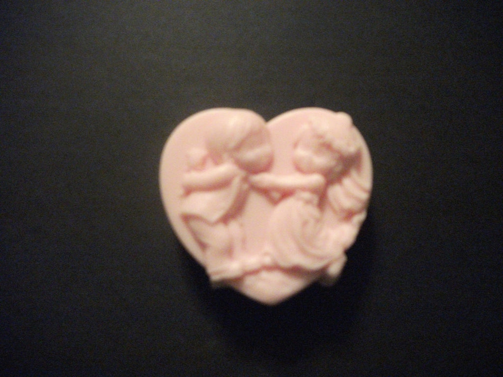 Heart Bride and Groom 100% Natural Goat Milk Soap White Tea & Ginger Or Choose Your Scent