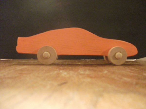 Cute Painted  Wooden Antique Push Cars For Children or Desk