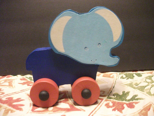 CUTE PAINTED PUSH TOY NELLY ELEPHANT