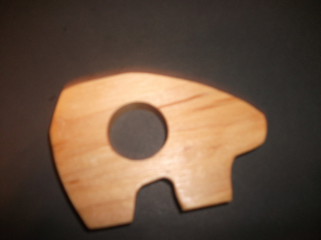 Polar Bear Teether - Organic,Hard Maple 100% Safe and Natural For Your Baby