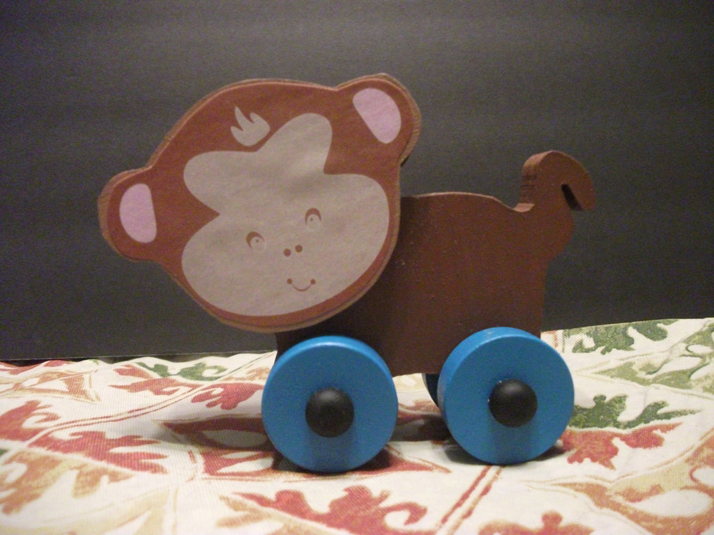 CUTE PAINTED PUSH TOY REMO MONKEY