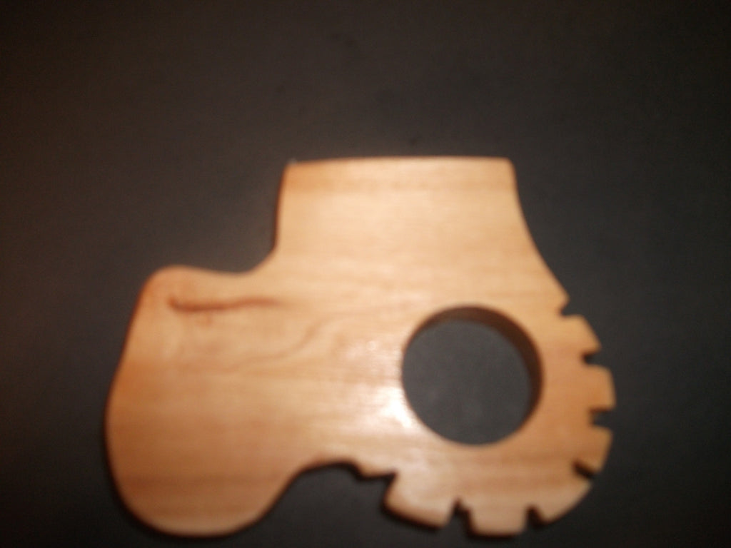 Tractor Teether - Organic,Hard Maple 100% Safe and Natural For Your Baby