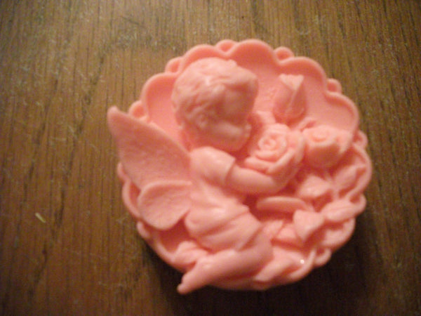 Cute Angel Boy Smelling Roses 100% Natural Goat Milk Soap White Tea & Ginger Or Choose Your Scent