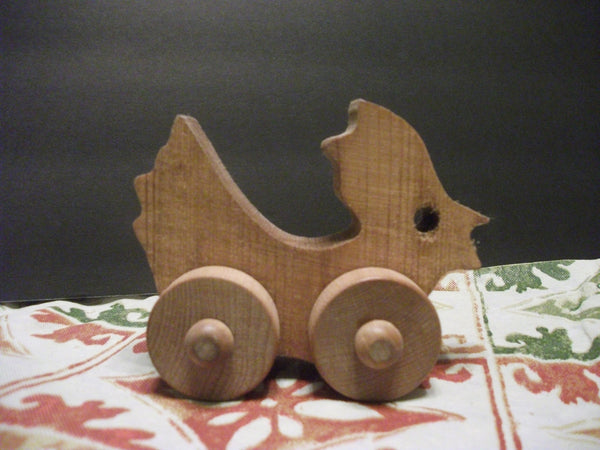 Cute Stained Wooden Push toy Drew Birdymore