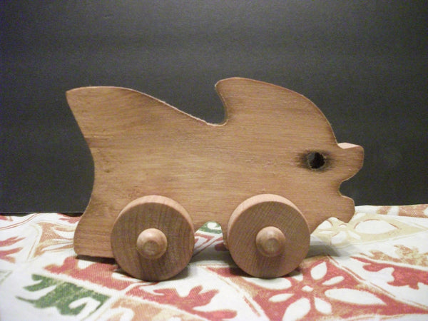 Cute Stained Wooden Push Toy Fishy madonna