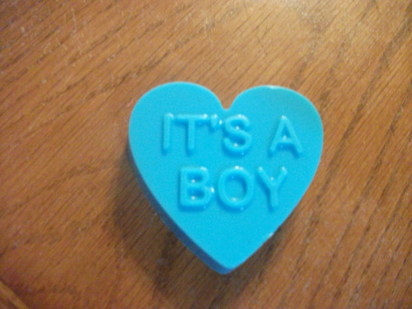 Blue Heart That Say It's A Boy Good For Baby Shower 100% Natural Goat Milk Soap Baby Powder Scented