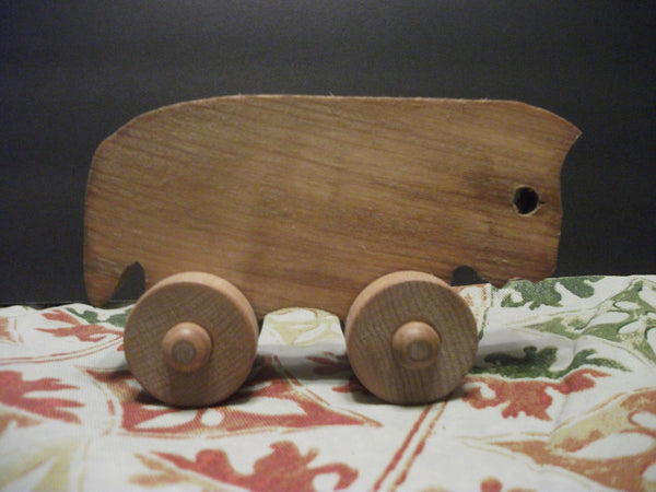 Cute Stained Wooden Push toy john waynesteer