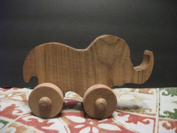 Cute Stained Wooden Push toy liz taylorphant