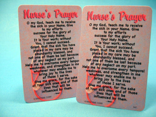 Nurse's Prayer Great Gift To Say Thank You