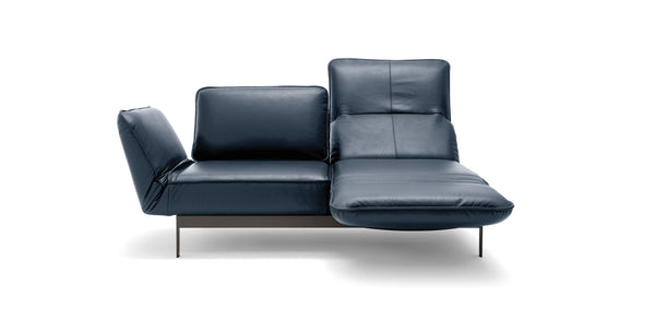 MERA leather sofa with chaise lounge