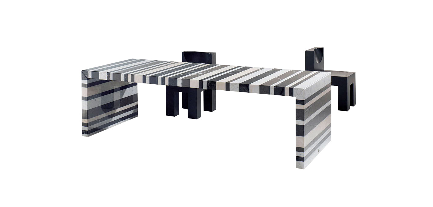 Draenert Barcode Table - Marble Furniture
