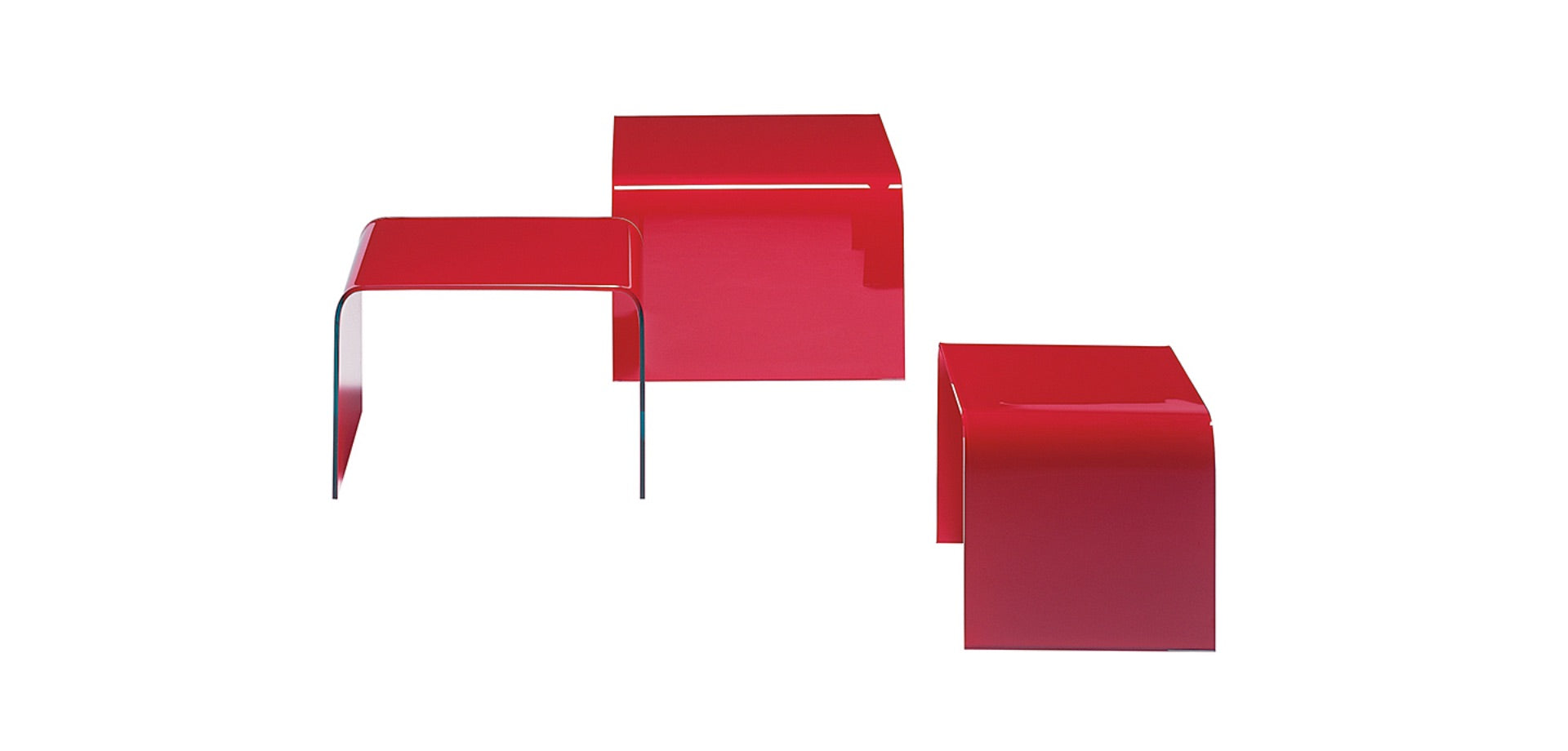 Draenert Colored Glass Side Tables