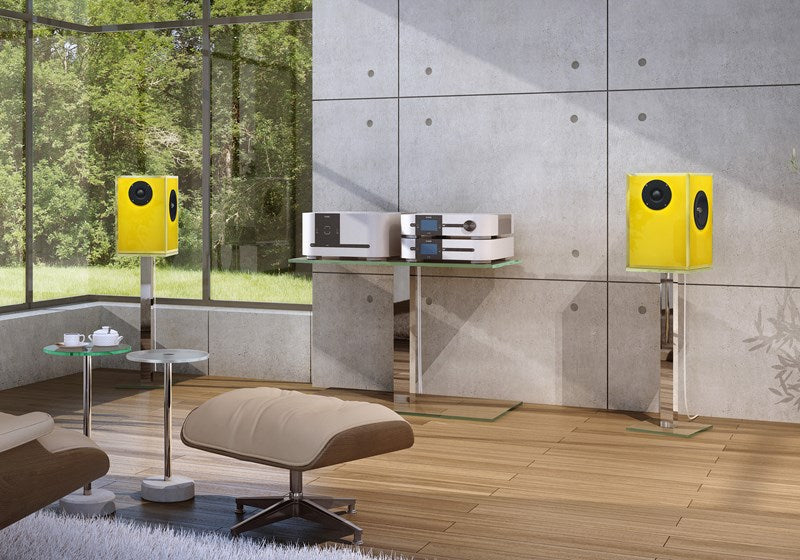 Dreieck Design Glass Speakers
