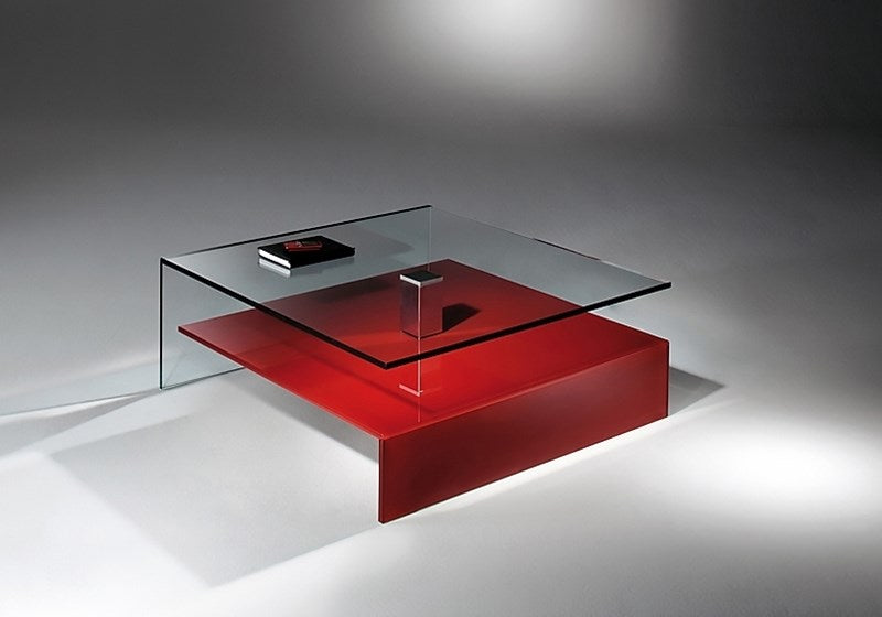 Dreieck Design Glass Side Tables
