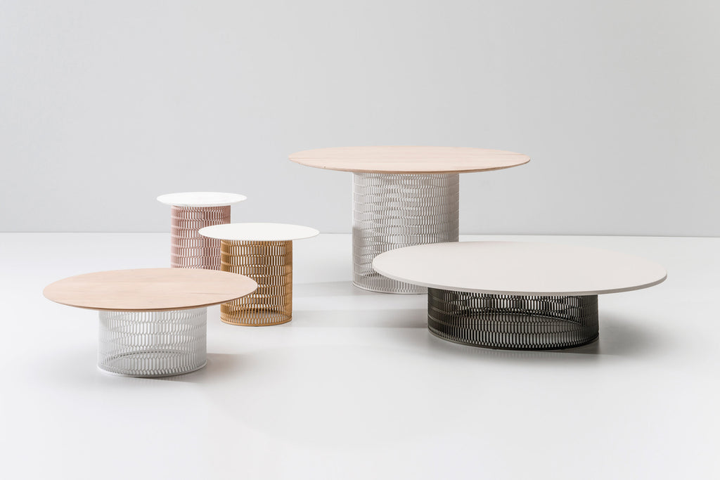 MESH ASSORTED SIZES TABLES  by Kettal, available at the Home Resource furniture store Sarasota Florida